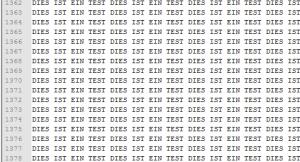 """""""Gefälschte"""" BDCM Datei mit Text """"DIES IST EIN TEST"""""""